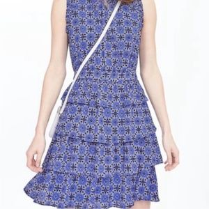 Banana Republic Taylor Tile Tiered Dress
